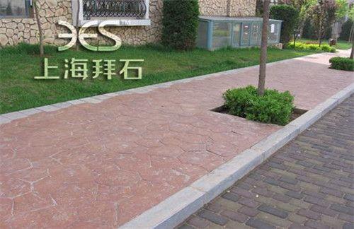 拜石压膜地坪;彩色压花地坪价格;宁波压印地坪做法