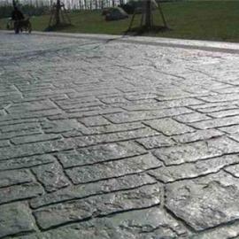 上海压花混凝土;压花地坪模具;路面压花地坪价格