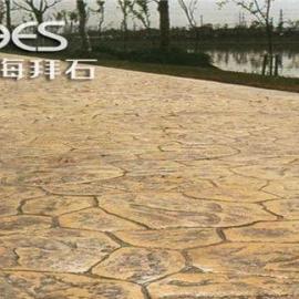 供应信阳彩色压模地坪/绍兴艺术压花混凝土价格是多少