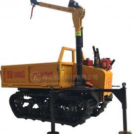 履带式随车吊,山地田地运输机,载重1吨,吊装500KG