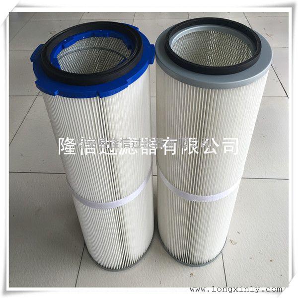 供应无纺布折叠 PTFE覆膜聚酯除尘滤芯滤筒 卡盘旋转滤筒