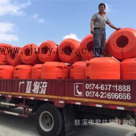 直径1.3米孔径480夹管塑料浮筒 孔径530夹管浮筒