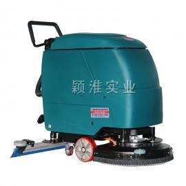 业超市用电瓶洗地机手推式全自动拖地机刷地机工厂地面清洗机-超市