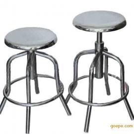不锈钢圆凳,不锈钢螺杆升降圆凳