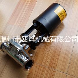 卫生级电动隔膜阀,电动快装隔膜阀
