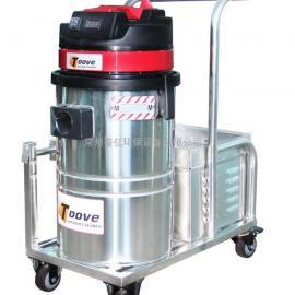 新款工业小型电瓶式吸尘器手推式充电型吸尘器工
