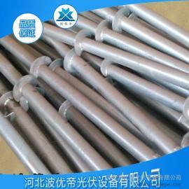 螺旋地桩 预埋桩基 热镀锌产品 法兰叶片地桩