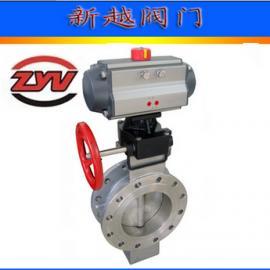 双作用气动D673W-16P 不锈钢对夹式蝶阀
