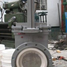 陶瓷手动闸板阀、手动耐磨插板阀