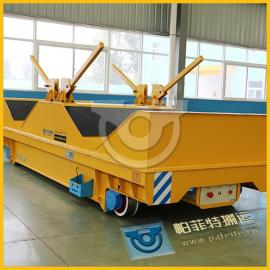 两相低压25T大跨距铝钢卷运输电动轨道平板小车