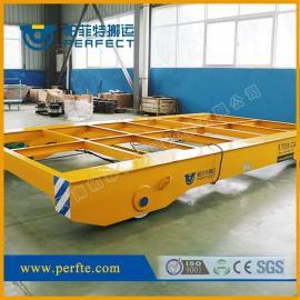 根据客户现场使用情况专业定制的转运钢管电动轨道平车
