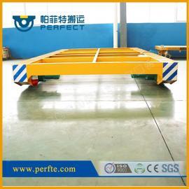 根据客户现场使用情况专业定制的运输钢管镂空电动轨道平板车