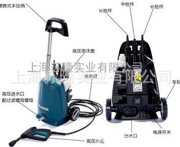 日本牧田HW102高压清洗机,牧田HW102家用洗车机220V