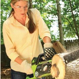 格力博40V充电式电锯锂电伐木锯低噪音充电电锯家用木工电锯
