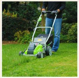 格力博充电割草机 草坪机19寸手推式剪草机 锂电无刷电机 修剪机