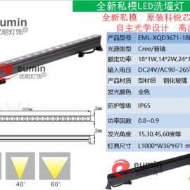 2016新款LED洗墙灯18W DMX512外控