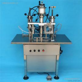 三合一半自动微型气雾剂灌装机 定量灌装设备 气雾剂灌装机械