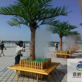 天门景观造雾-人造雾设备-天门喷雾降温-雾森冷雾系统工程