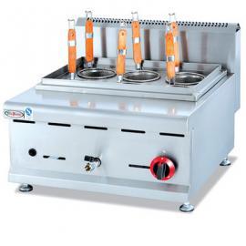 杰冠GH-588台式燃气六头煮面炉 商用台式煮面炉