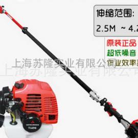 日本三菱TU26 高枝油锯、三菱4.2米可伸缩式高枝油锯