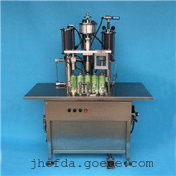 治脚气气雾剂灌装机 防汗臭气雾剂灌装设备 半自动灌装机械