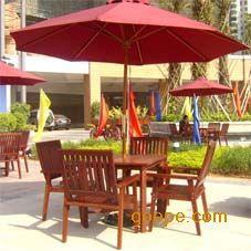 康图木质休闲防腐桌椅