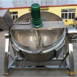 电夹层锅生产厂家,自动搅拌夹层锅,八宝粥熬制锅