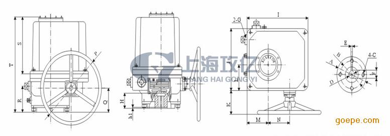 lq80-1电动执行器 lq10-1电机/lq20-1电动头lq40-1/北方阀门电装图片