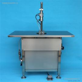 半自动液体定量灌装机 喷发胶气雾剂灌装设备 气雾剂灌装机械