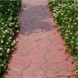 环保美观彩色艺术压模地坪