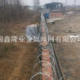 四川防盗设施 ,不锈钢刀片刺网 刀片防盗网