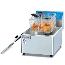 杰冠DF-6L单缸单筛电炸炉 商用台式电炸锅 杰冠西厨
