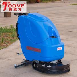 常州手推式洗地机 拓威克洗地机手推式 手推式多功能刷地机