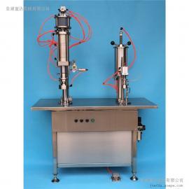 热销烹调及煎锅用润滑油灌设备 气雾剂二元包装灌装机