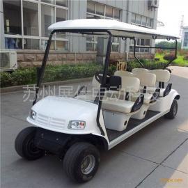 青岛潍坊6座高尔夫球车 港口码头四轮电动车 公园景区观光车