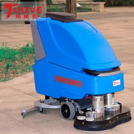 常州电瓶式全自动洗地机双刷自走洗地吸干机手推式洗地机