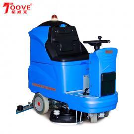 批发驾驶式洗地机电瓶式洗地车拓威克工厂车间用洗地机