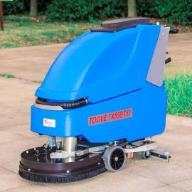 手推式小型洗地机 全自动电瓶式洗地吸干机
