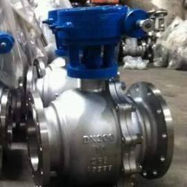 Q341PPL-25P/R/RL不锈钢蜗轮高温球阀