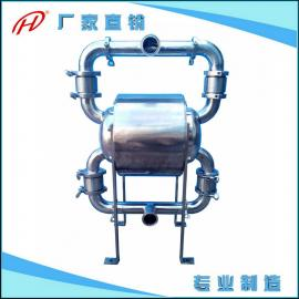 快装卫生级气动隔膜泵 不锈钢304食品级隔膜泵 卡箍特氟龙双隔膜&