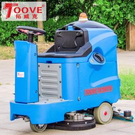 驾驶式标准电池拓威克洗地机全主动洗地店里工业道岔周边用