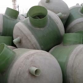贵州遵义仁怀农村污水处理整体缠绕一体化玻璃钢化粪池生产厂