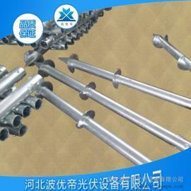 螺旋地桩 太阳能光伏设备 预埋桩基 热镀锌产品 钢桩基桩