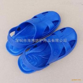 建博供应 洁净凉鞋 白蓝黑色 安全工作鞋
