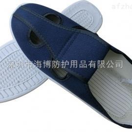 建博防静电鞋 帆布四孔 无尘车间劳保工作鞋PVC底