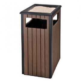 垃圾桶/南京垃圾桶厂家/塑木垃圾桶SDF-051