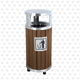 垃圾桶/南京垃圾桶/垃圾桶厂家/塑木垃圾桶SDF-054