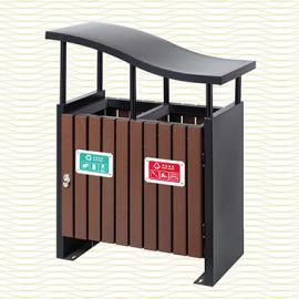 垃圾桶/南京垃圾桶/垃圾桶厂家/塑木垃圾桶SDF-058