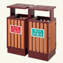 垃圾桶/南京垃圾桶/垃圾桶厂家/塑木垃圾桶SDF-062