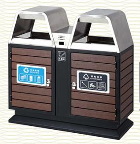 垃圾桶/南京垃圾桶/垃圾桶厂家/塑木垃圾桶SDF-063